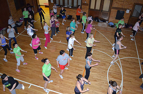 Can you pick me out in my Zumba class?  I love this class.