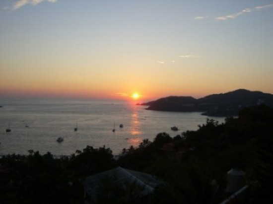 sunset over zihautanejo