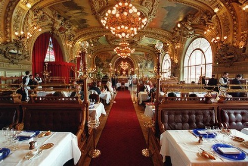 Can you believe it, this is a train station restaurant?