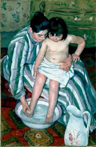 Don't you think American Impressionist Mary Cassatt captured the trusting tenderness between mother and daughter?