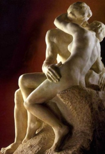 August Rodin sculpture, the Kiss