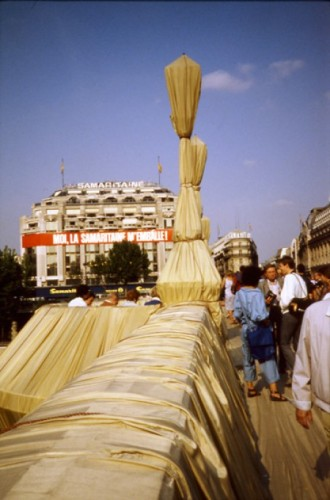 The Pont Neuf in Paris, wrapped by Christo