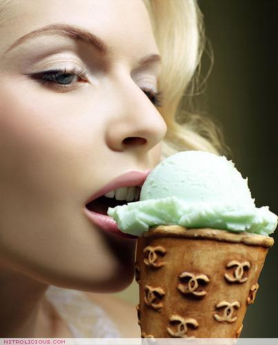 the sensuous delight of an ice cream cone